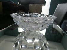 orrefors sweden decorative glass bowl with litle concave curves- raspberry model
