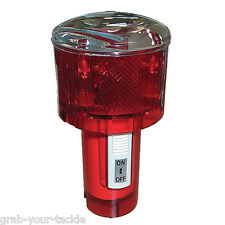 Flashing Safety Beacon Marine Beacon Solar Powered Red Marker Beacon NEW S50290