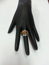 Antique 925 Ring With Yellow/Golden Stone Size 8