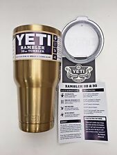 Yeti Cup - 30oz - Rambler Tumbler - GOLD COLOR - Shatterproof Lid - (USA)