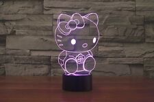 Hello Kitty 3D Night Light 7 Color Change LED Desk Lamp Touch Room Decor Gift