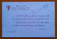 Lido di Roma 1961: Polisportiva Libertas - Invito all'inaugurazione nuova sede
