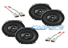 NEW PIONEER 4-WAY CAR AND TRUCK STEREO FRONT & REAR SPEAKERS W/ SPEAKER HARNESS