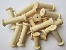 Wooden Bobbins Spools 75mm 10 Pack Sewing Cotton Reels Ribbon Craft Textile