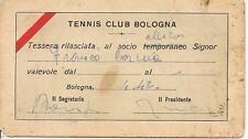 TENNIS CLUB BOLOGNA  TESSERA ALLIEVO -ANNO 1942-