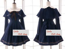Japan Trendy Kawaii Princess Cute Sweet Dolly Gothic Lolita Cape +Dress onepiece