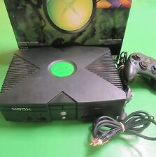 Microsoft Xbox Original Console + Box Controller Working Tested