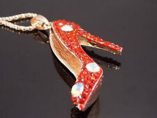 Women's Fashion Jewelry crystal red high heels Pendant Necklace #B239