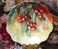 ANTIQUE LIMOGES FRANCE CHERRIES HAND PAINTED BY C. KREIS Raised Mold