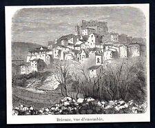 1854  --  ITALIE TREMBLEMENT DE TERRE  VUE D ENSEMBLE DE BRIENZA   3M237