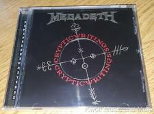 "MEGADETH  ""Cryptic Writings""  W/Bonus Tracks  NEW (CD, 1997/2004)"