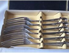 Silver Plated 6 Forks Set By Appointment To The Late King George V Sheffield