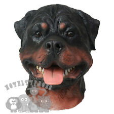 Latex Realistic Animal Rottweiler Dog Head Fancy Dress Carnival Stag Party Mask