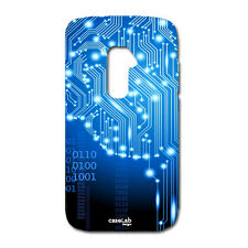 CUSTODIA COVER CASE CERVELLO CIRCUITO BLU PER LG OPTIMUS G2 D802