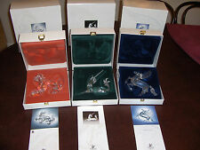 SWAROVSKI SCS CRYSTAL UNICORN DRAGON PEGASUS SIGNED FABULOUS CREATURES SET NIB