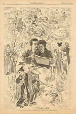 Winslow Homer, St. Valentine's Day The Old Story In All Lands 1868 Antique Print