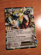 PL Pokemon REGISTEEL EX card DRAGONS EXALTED Set 81/124 Black and/&White BW B&W