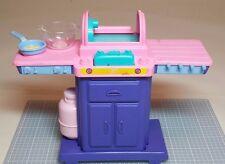 BARBIE Magic Moves Barbecue BBQ Grill- Purple Patio Picnic Furniture Mattel 1994
