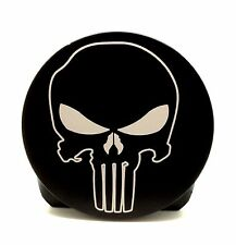 PUNISHER SKULL, BILLET ALUMINUM HITCH PLUG COVER, 4""