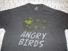Large- Peanuts Woodstock Angry Birds T- Shirt