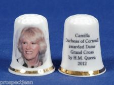 Camilla Duchess of Cornwall Awarded Dame Grand Cross 2012 China Thimble B/87