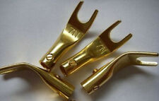 8pcs 24K-GOLD PLATED SPADE W/ SCREW FORK CONNECTOR,38