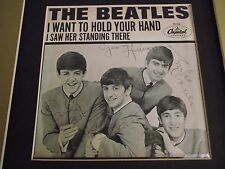 Beatles - Fully Signed 45rpm Picture Sleeve (I Want To Hold Your Hand) with CoA