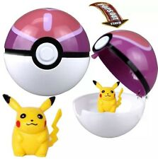 Pokemon Love Heart Ball Plastic Pop-up Toy 7 cm W/ Pikachu Figure US Seller