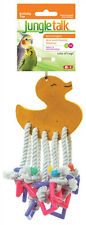JUNGLE TALK - Lots of Legs Bird Toy Small - 7 x 3 Inches