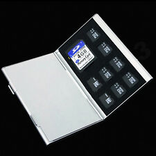 Metal Aluminum Micro TF SD MMC Memory Card Storage Holder Protecter Case 1pc