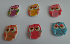 Resin Owl Heart plastic brooches brooch pink yellow purple pink turquoise