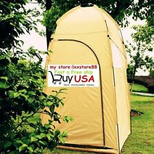 Portable Pop UP Outdoor Camping Bathing Shower Toilet Changing Tent Yellow US VP