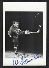 Al Hamilton New York Rangers Signed Rare Vintage Team-Issue Hockey Photo