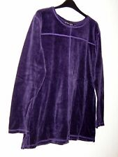 *Gudrun Sjoden* gorgeous soft cotton velour purple sweater L 42""