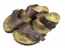 Birkenstock Birkis Sandals Womens Size 8 to 8.5 N UK 39 Two Strap Brown Shoes