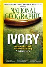 "NEW National Geographic September 2015 ""IVORY"" Magazine Hidden GPS chip, Crime"