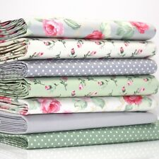 FQ Bundle - Ascot Rose Ivory Grey Green Pink Cream x 7 - Fat Quarter - Cotton Fa