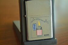 ZIPPO Lighter, 20214 - It's a Grand Old Lighter, Brushed Chrome 2002 Sealed M981