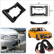 Car Front Bumper Guard Rubber Anti-Collision License Plate Frame Protector Cover