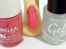 Smalto Gel Rosa Salmone + Top Coat Semipermanente No UV Moda Nail Art