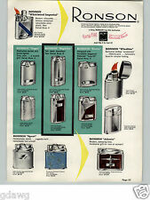 1958 PAPER AD Ronson Highlite Windlite Whirlwind Table Pocket Cigarette Lighter