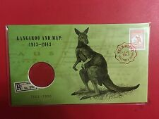 2013 KANGAROO  MAP MELBOURNE EXPO STAMP PNC DAY 6 NUMBERED 7161 WITHOUT COIN (C2