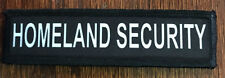 1x4 Homeland Security Morale Patch Military Tactical Army Flag USA Badge Hook