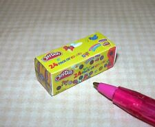 """Miniature GENERIC """"Clay-Doh"""" Modeling Clay Box: DOLLHOUSE 1/12 Scale Toys"""