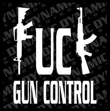 Large F**k Gun Control AR AK Patriotic Vinyl window decal sticker pro 2nd