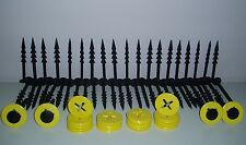 SET OF 50 GROUND COVER/FLEECE/MULCH WEED MEMBRANE FIXING PEGS WITH WASHERS