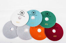 "Wet or Dry 6"" inch 150mm Diamond Polishing Pads Granite 7pc full set"