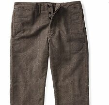 RRL Ralph Lauren Stonewash Checked Japanese Cotton Officer's Chino Pant-36W34L