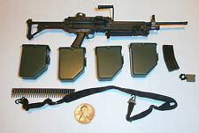 Soldier Story US 82nd Airborne PANAMA M249 Mk 1 MG with drums etc1/6th scale
