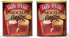 Lot of 2 CANS OF CAFE D'VITA MOCHA CAPPUCCINO INSTANT COFFEE 4LBS x 2